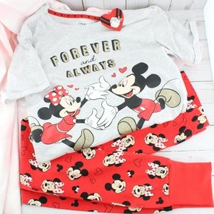 """Minnie & Mickey """"Forever and Always"""" PJ Set"""